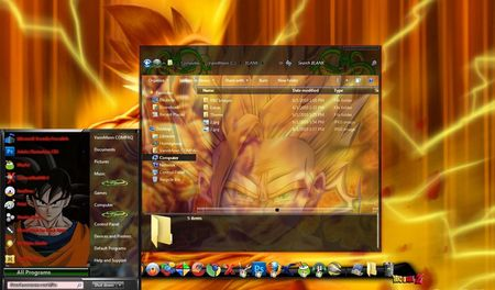 Windows 7 Themes: Dragon Ball Z