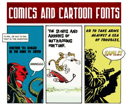 Comics and Cartoon Fonts