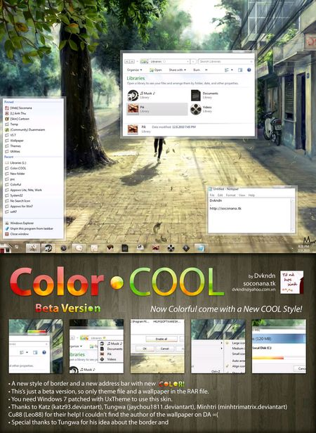 Color.COOL - Theme for Windows